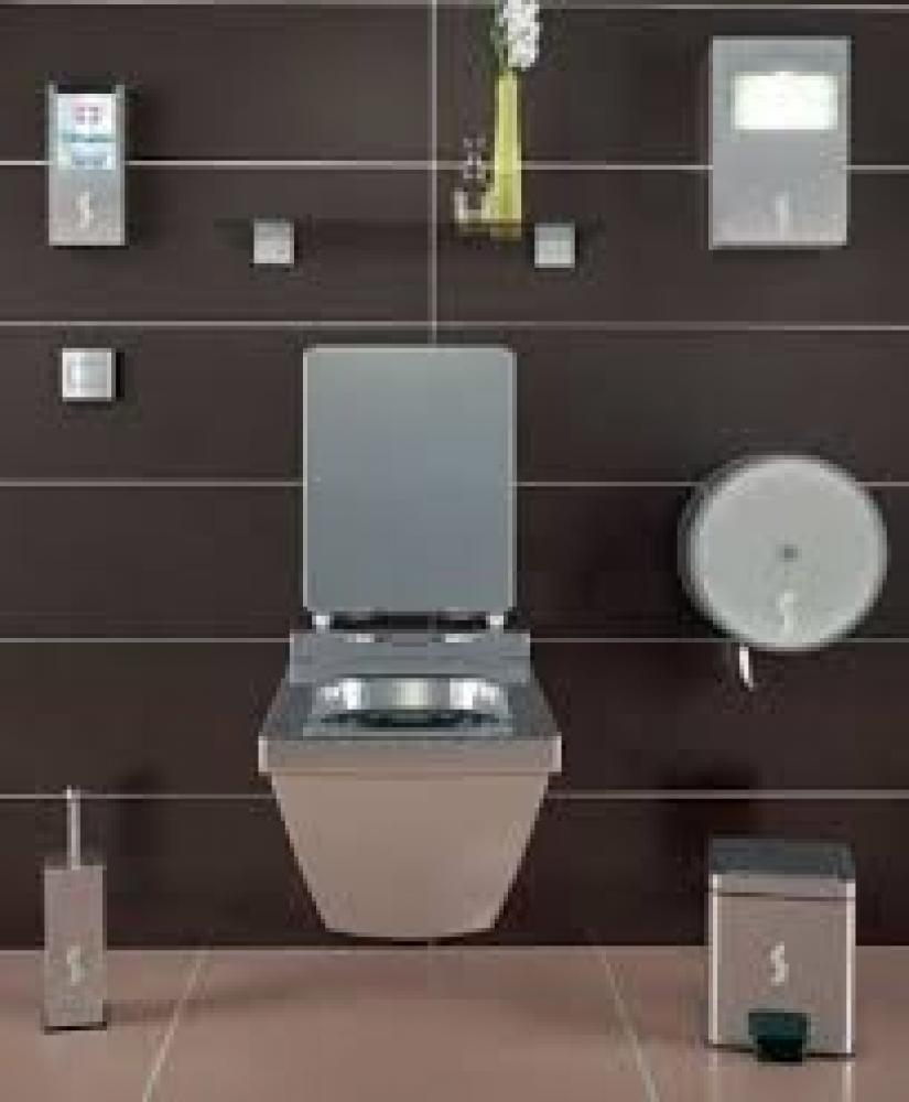 Kit accessori bagno collettivit acciaio inox - Accessori bagno acciaio ...