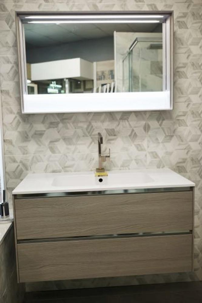 Arblu mobile bagno cm95 specchio - Mobile bagno laminato ...